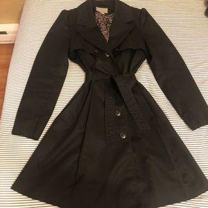 Black Size 12 H&M Trench Coat